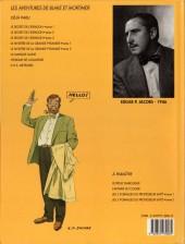 Verso de Blake et Mortimer (Les Aventures de) -4b1990- Le Mystère de la Grande Pyramide - Tome 1