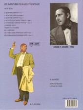 Verso de Blake et Mortimer -11- Les 3 Formules du Professeur Satô - Tome 1
