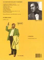 Verso de Blake et Mortimer (Les Aventures de) -13- L'affaire Francis Blake