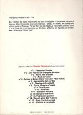 Verso de Vivants témoins -1- François d'Assise