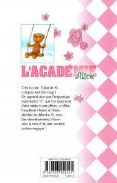 Verso de L'académie Alice -6- Tome 6