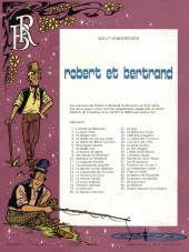 Verso de Robert et Bertrand -39- Quand meurent les corbeaux