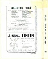 Verso de (Recueil) Tintin (Album du journal - Édition belge) -122- Tome 122