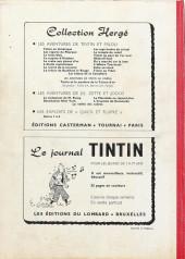 Verso de (Recueil) Tintin (Album du journal - Édition belge) -61- Tome 61
