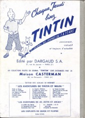 Verso de (Recueil) Tintin (Album du journal - Édition française) -57- Tintin album du journal