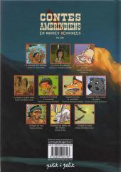 Verso de Contes du monde en bandes dessinées - Contes amérindiens en bandes dessinées