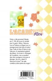 Verso de L'académie Alice -7- Tome 7