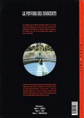 Verso de Le pouvoir des Innocents -3- Providence