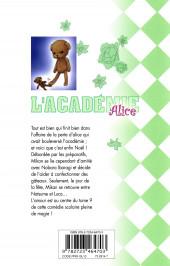 Verso de L'académie Alice -9- Tome 9
