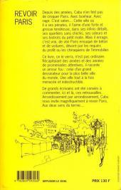 Verso de Cabu (voyages au bout du crayon) - Revoir Paris