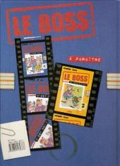 Verso de Le boss -1- C'est moi !