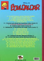 Verso de Bouldaldar et Colégram -7- Le boudin élastique (Libre Junior 5)