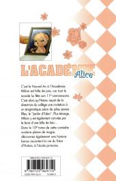 Verso de L'académie Alice -10- Tome 10