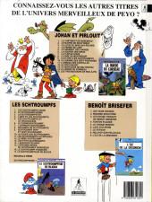 Verso de Johan et Pirlouit -15- Les troubadours de Roc-à-Pic
