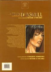 Verso de Les feux d'Askell -2- Retour à Vocable