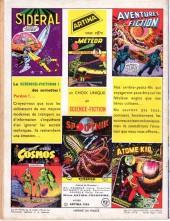 Verso de Sidéral (1re série) -3- Bateau de sauvetage dans l'espace