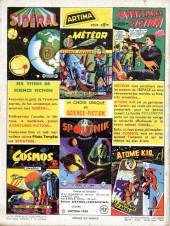 Verso de Sidéral (1re série) -8- Les envahisseurs venant des satellites...