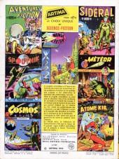 Verso de Sidéral (1re série) -11- Le secret des martiens masqués