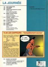 Verso de Les zappeurs -1- Complètement accros