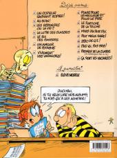 Verso de L'Élève Ducobu -15- Ça sent les vacances !