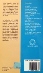 Verso de (AUT) Hergé -66- Hergé écrivain