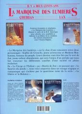 Verso de La marquise des Lumières -4- Le glaive et la balance