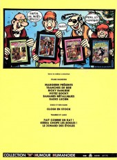 Verso de Frank Margerin présente - Tome 1b1982/09