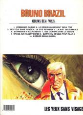 Verso de Bruno Brazil -3c1987- Les yeux sans visage