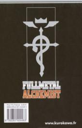 Verso de FullMetal Alchemist -22- Tome 22