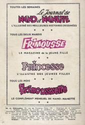 Verso de Frimousse et Frimousse-Capucine -182- Premier bal
