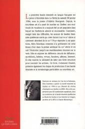 Verso de Histoire de la bande dessinée au Québec