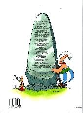 Verso de Astérix -34- L'Anniversaire d'Astérix & Obélix - Le livre d'Or