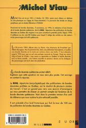 Verso de BDQ -1- Répertoire des publications de bandes dessinées au Québec des origines à nos jours