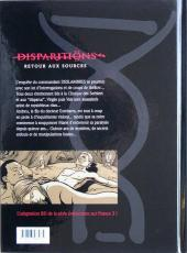 Verso de Disparitions -3- Retour aux sources III