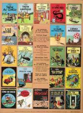 Verso de Tintin (Historique) -13C1- Les 7 boules de cristal