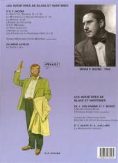 Verso de Blake et Mortimer -11b00- Les 3 Formules du Professeur Sato - Tome 1