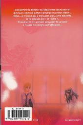Verso de A romantic love story -4- Tome 4