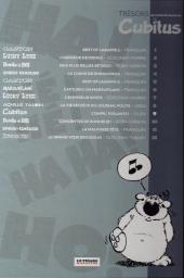 Verso de Les trésors de la bande dessinée -9- Cubitus - Compil' poilante !
