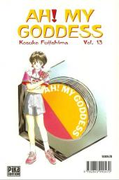 Verso de Ah! My Goddess -13- Tome 13