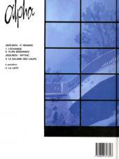 Verso de Alpha (Renard/Mythic/Jigounov/Lamquet) -3- Le salaire des loups