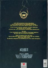 Verso de Aquablue -2b- Planète bleue