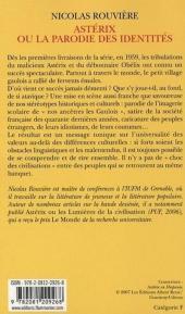 Verso de Astérix (Autres) -29- Astérix ou la parodie des identités