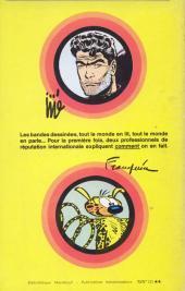 Verso de (AUT) Franquin -1- Comment on devient créateur de Bandes dessinées