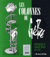 Verso de (AUT) Gébé - Les colonnes de Gébé (chroniques de Charlie hebdo 1993-2003)