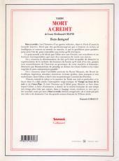 Verso de (AUT) Tardi -8- Mort à crédit