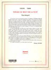 Verso de (AUT) Tardi -4- Voyage au bout de la nuit