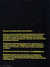Verso de Barbarella -3- Le Semble-Lune
