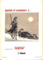 Verso de Bastos et Zakousky -2- La forteresse des neiges
