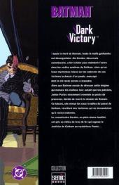 Verso de Batman : Dark Victory -2- Dark Victory 2