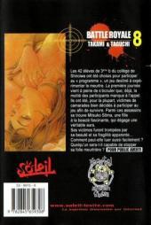 Verso de Battle Royale -8- Sixième sens
